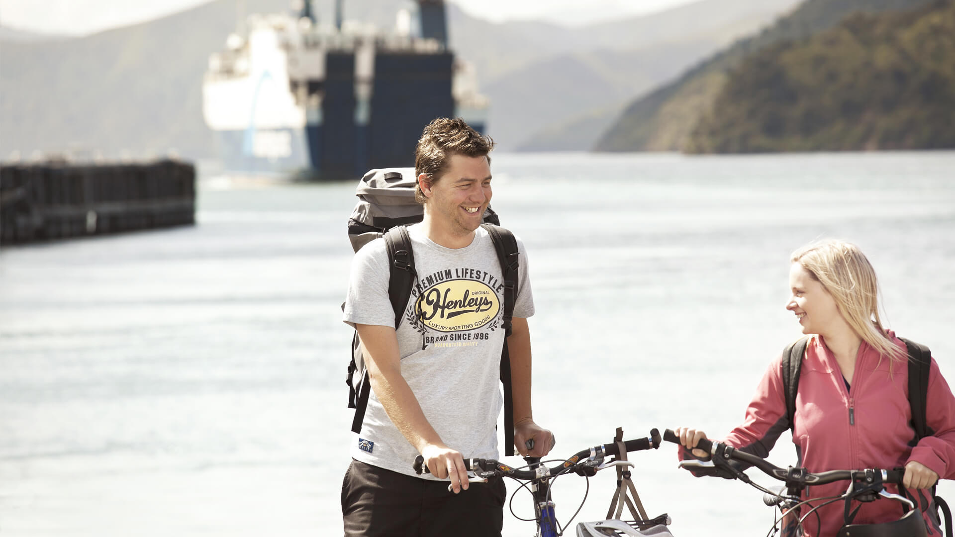 Bikes travel free on Bluebridge ferry