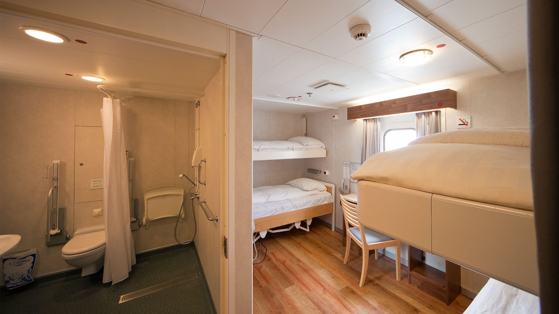 Accessible cabin on Bluebridge Cook Strait Ferry